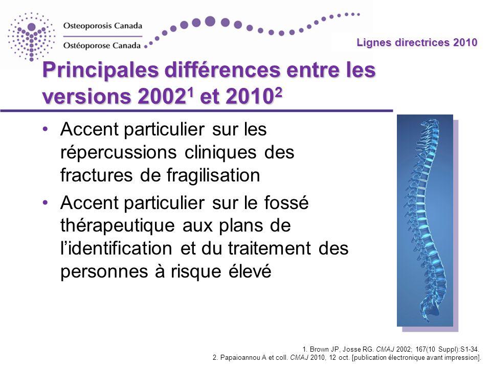 2010 Guidelines Lignes directrices 2010 Principales différences entre les versions 2002 1 et 2010 2 Accent particulier sur les répercussions cliniques