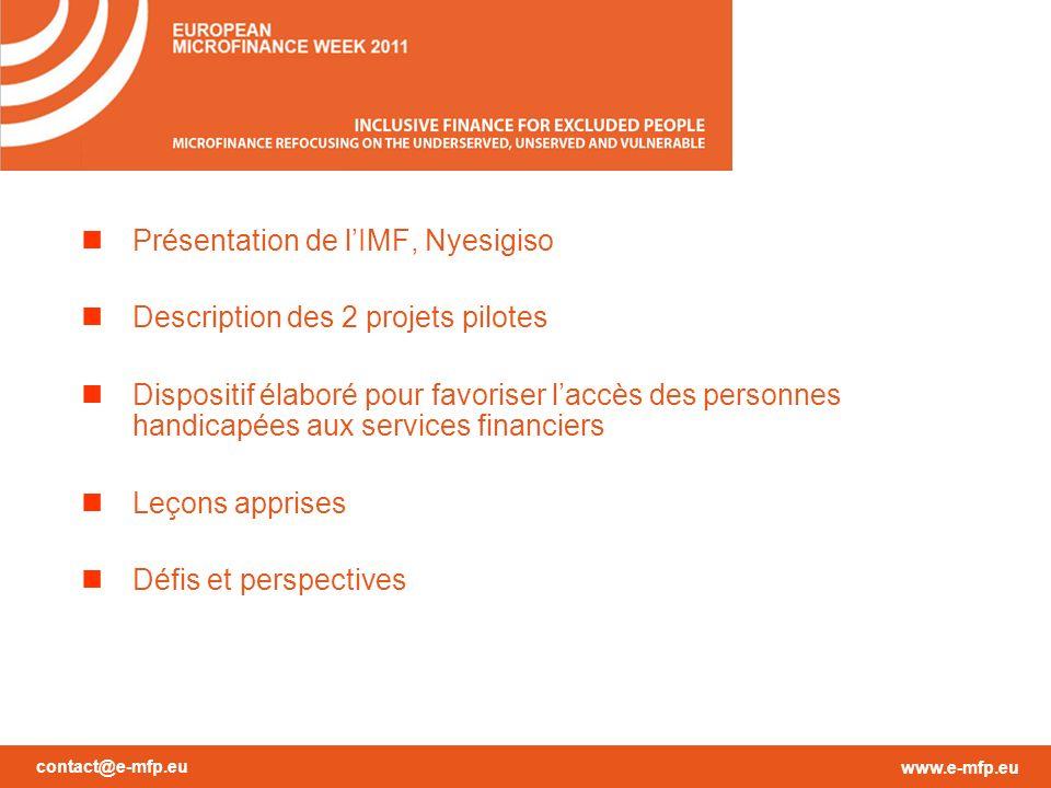 contact@e-mfp.eu www.e-mfp.eu Vision « Être le réseau financier mutualiste de référence au Mali, ayant des entités de bases fortes, pérennes, bien enracinées dans leur milieu ».