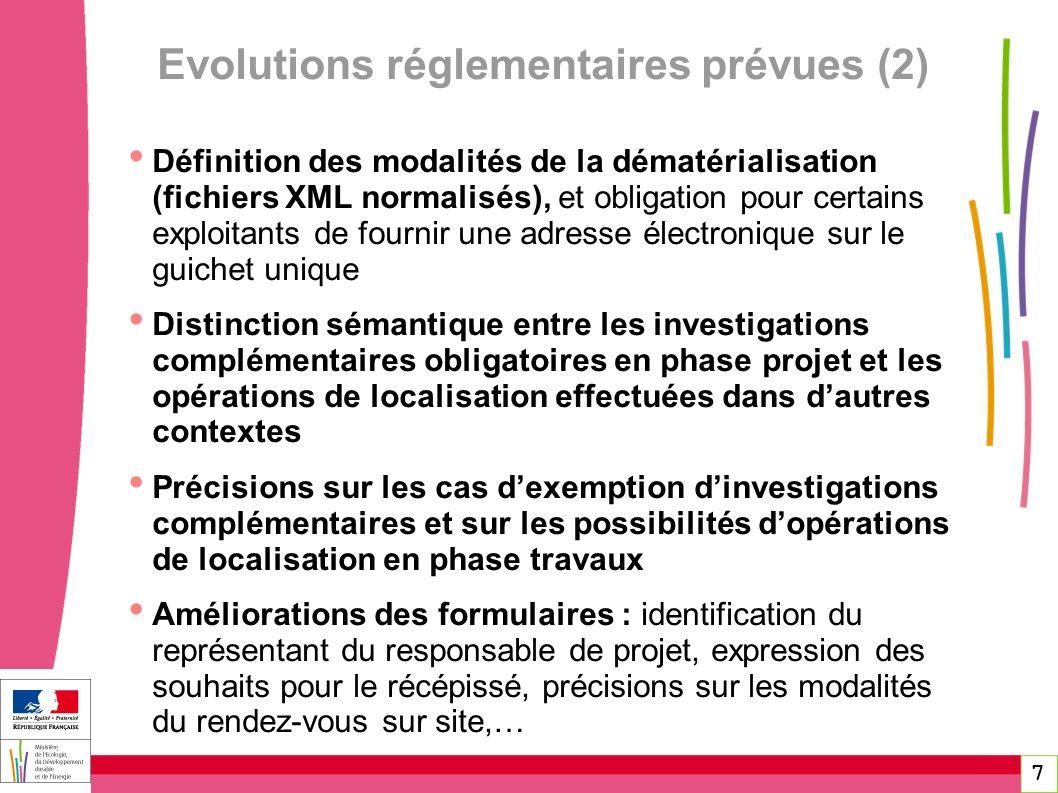 7 Définition des modalités de la dématérialisation (fichiers XML normalisés), et obligation pour certains exploitants de fournir une adresse électroni