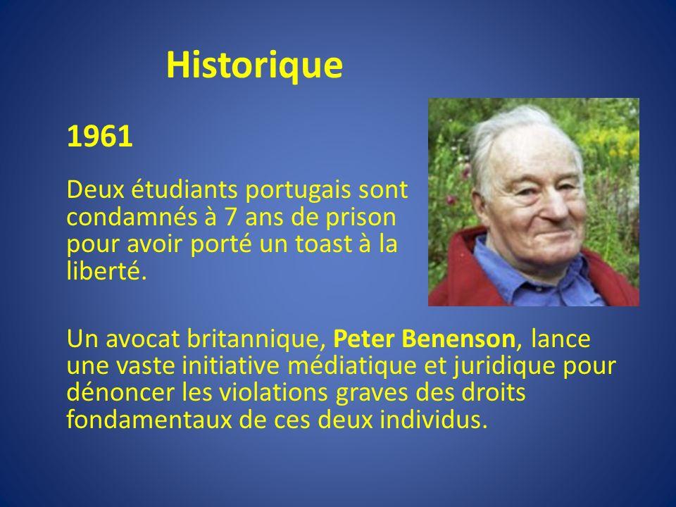 Historique 1961 Deux étudiants portugais sont condamnés à 7 ans de prison pour avoir porté un toast à la liberté.