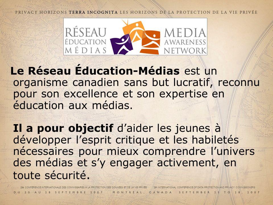 Le Réseau Éducation-Médias est un organisme canadien sans but lucratif, reconnu pour son excellence et son expertise en éducation aux médias. Il a pou