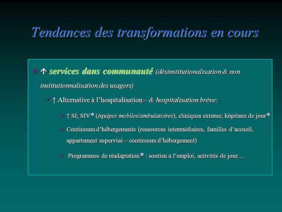 services dans communauté (désinstitutionalisation & non institutionnalisation des usagers) services dans communauté (désinstitutionalisation & non ins