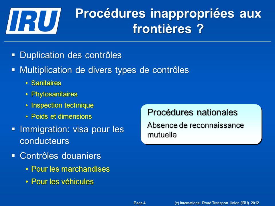 Procédures inappropriées aux frontières .