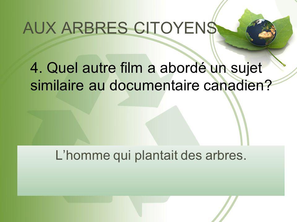 AUX ARBRES CITOYENS Lhomme qui plantait des arbres.
