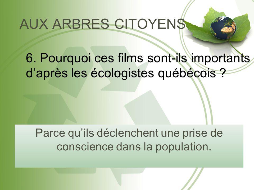 Réflexion 1. Pourquoi compare-t-on le document québécois à une bombe?