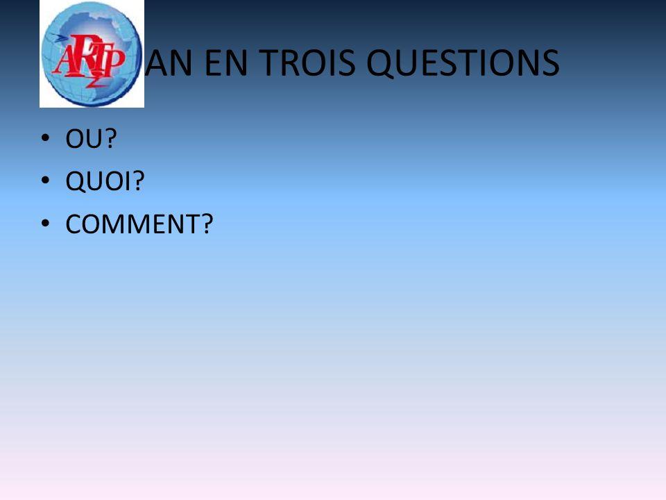 PLAN EN TROIS QUESTIONS OU QUOI COMMENT