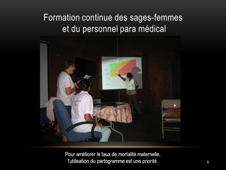 6 Pour améliorer le taux de mortalité maternelle, lutilisation du partogramme est une priorité.
