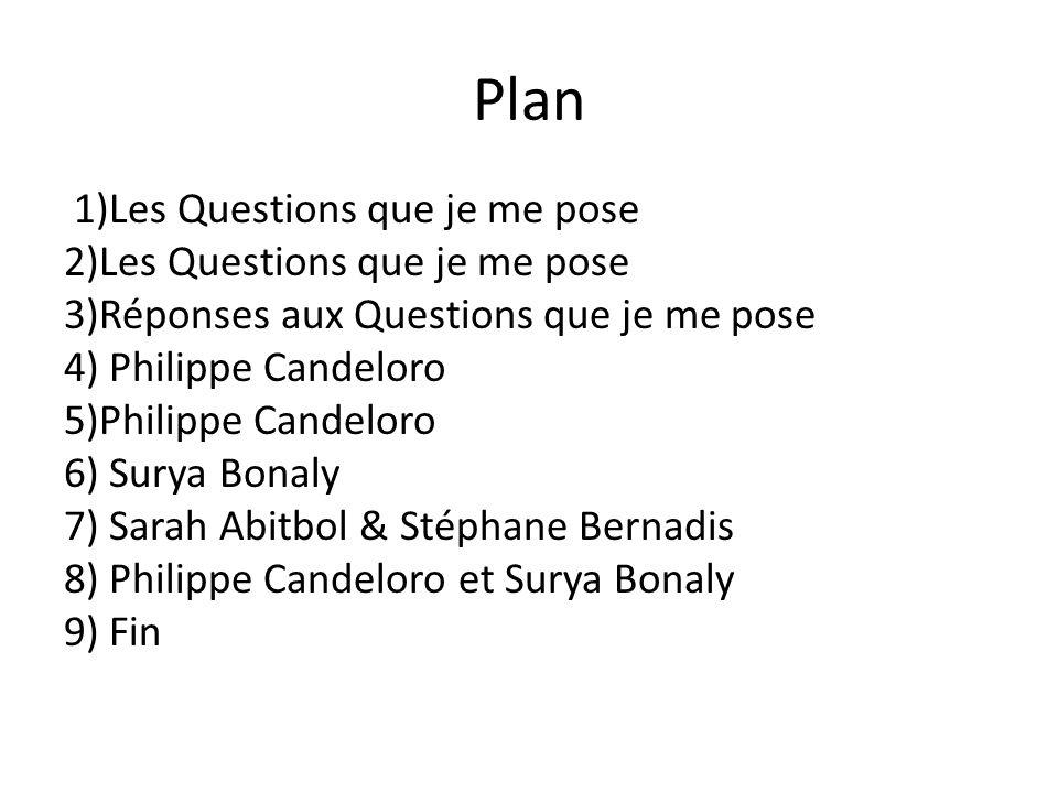 Plan 1)Les Questions que je me pose 2)Les Questions que je me pose 3)Réponses aux Questions que je me pose 4) Philippe Candeloro 5)Philippe Candeloro