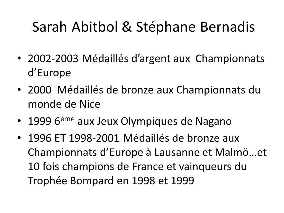 Sarah Abitbol & Stéphane Bernadis 2002-2003 Médaillés dargent aux Championnats dEurope 2000 Médaillés de bronze aux Championnats du monde de Nice 1999