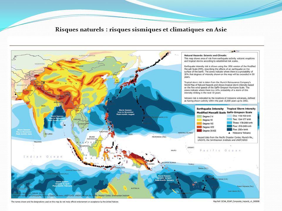 Risques naturels : risques sismiques et climatiques en Asie