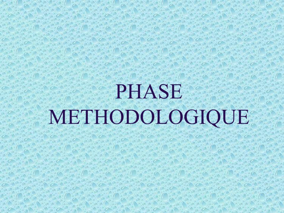 PHASE METHODOLOGIQUE