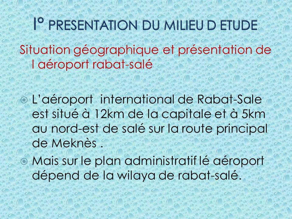 Situation géographique et présentation de l aéroport rabat-salé Laéroport international de Rabat-Sale est situé à 12km de la capitale et à 5km au nord