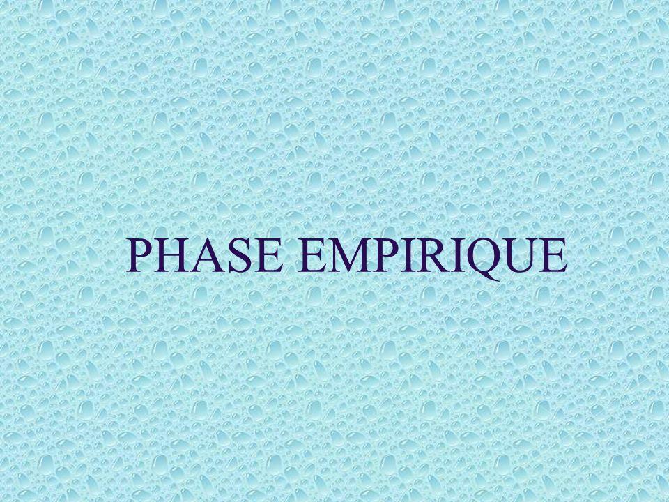 PHASE EMPIRIQUE