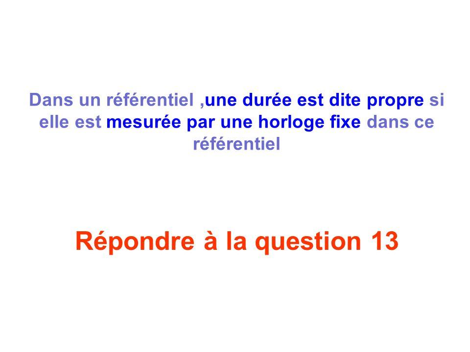 Répondre à la question 12