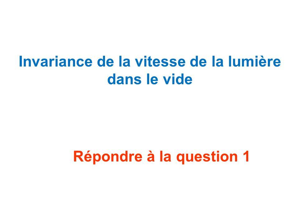 Dans un référentiel,une durée est dite propre si elle est mesurée par une horloge fixe dans ce référentiel Répondre à la question 13