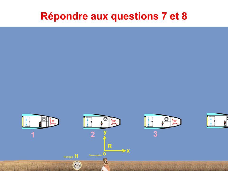 Observer la fusée Répondre aux questions 3,4,5 et 6.
