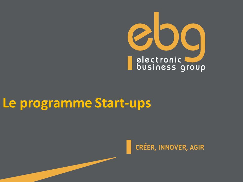 Le programme Start-ups