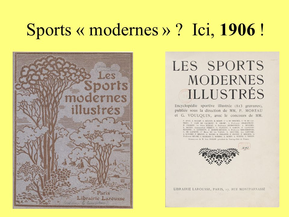 Sports « modernes » ? Ici, 1906 !