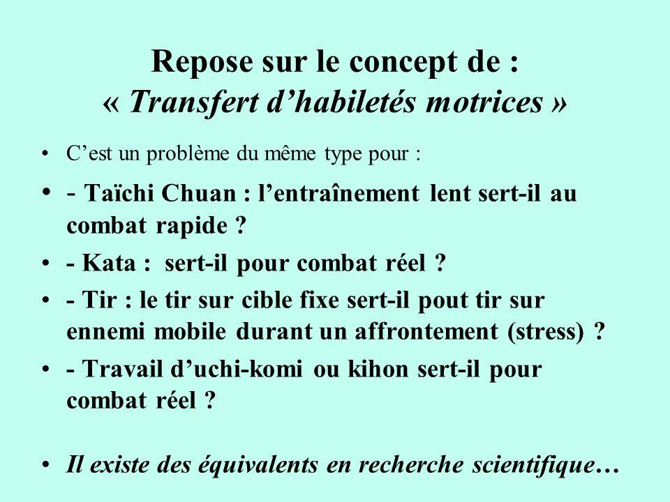 Problème de transfert .Transfert possible, ou difficile à très difficile, voire impossible.