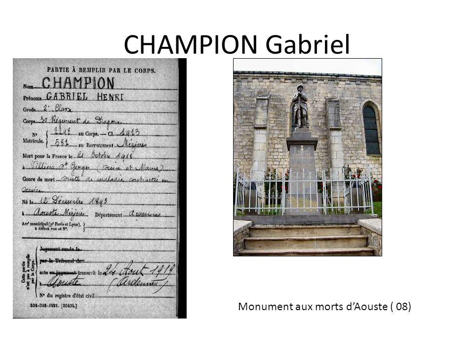 CHIVOT Arthur Plaques commémoratives, église du Saint- Sépulcre dAbbeville (80)