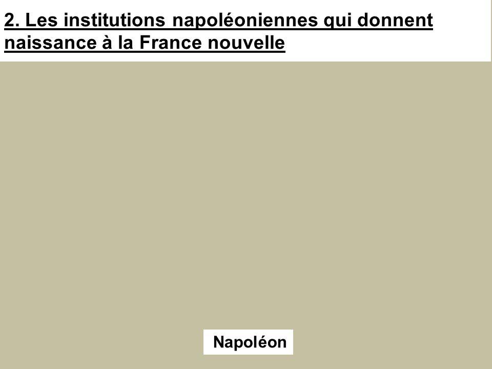2. Les institutions napoléoniennes qui donnent naissance à la France nouvelle Napoléon