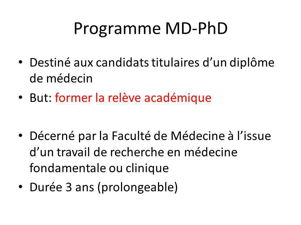 Programme MD-PhD Procédure: 1.Trouver un groupe daccueil 2.Soumettre un dossier de candidature 3.Sinscrire au programme