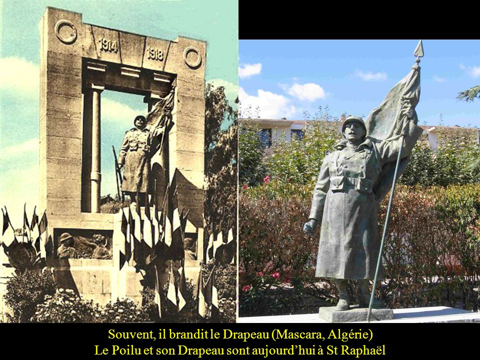 Parfois le soldat sur le monument a une allure bien moderne! (le para US de La Fière près de Ste Mère Église, Normandie)