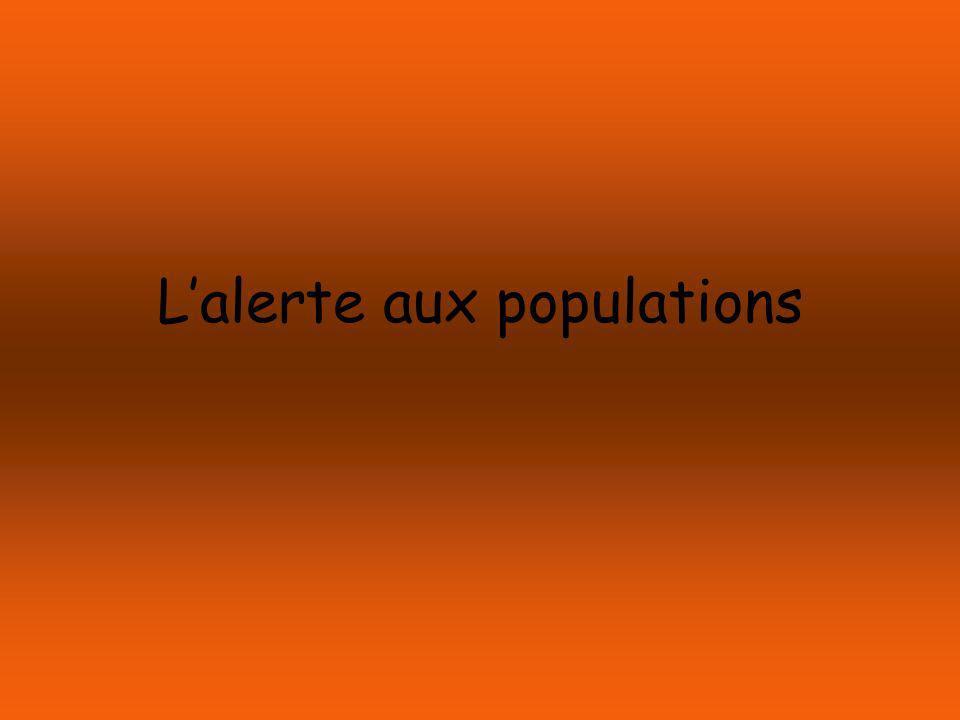 Lalerte aux populations