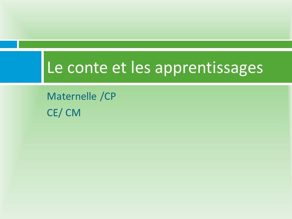 Maternelle /CP CE/ CM Le conte et les apprentissages