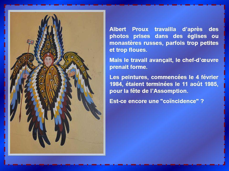 Bien quil ait apprécié les œuvres antérieures de M. Proux, lAbbé Courtelarre craignait que ce peintre ne soit pas exactement celui que la chapelle att