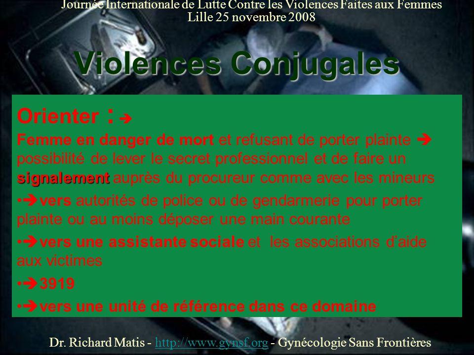 25 Novembre 2008 Dr. Richard Matis - http://www.gynsf.org - Gynécologie Sans Frontièreshttp://www.gynsf.org Journée Internationale de Lutte Contre les