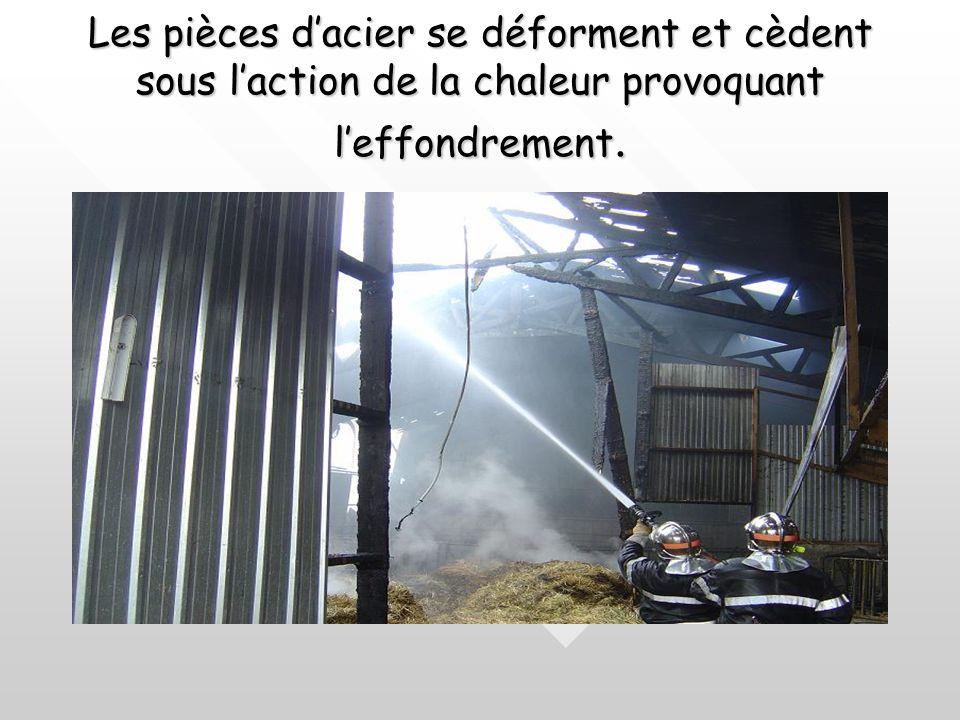 Quelques exemples :Quelques exemples : A 500 C° la résistance du fer diminue de moitié ã A 700 C° elle est réduite d'un tiers ã A 800 C° elle est null