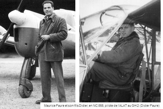 Maurice Faure et son fils Didier, en NC 856, pilote de lALAT au GH 2 (Didier Faure)