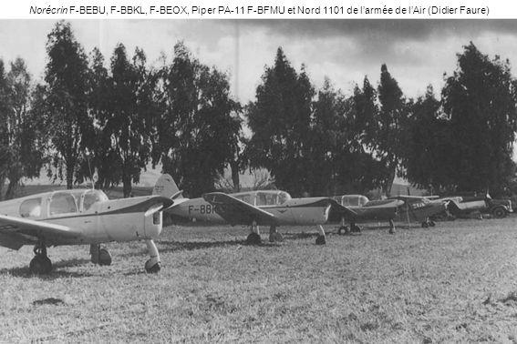 Norécrin F-BEBU, F-BBKL, F-BEOX, Piper PA-11 F-BFMU et Nord 1101 de larmée de lAir (Didier Faure)
