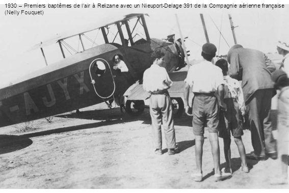 1930 – Premiers baptêmes de lair à Relizane avec un Nieuport-Delage 391 de la Compagnie aérienne française (Nelly Fouquet)