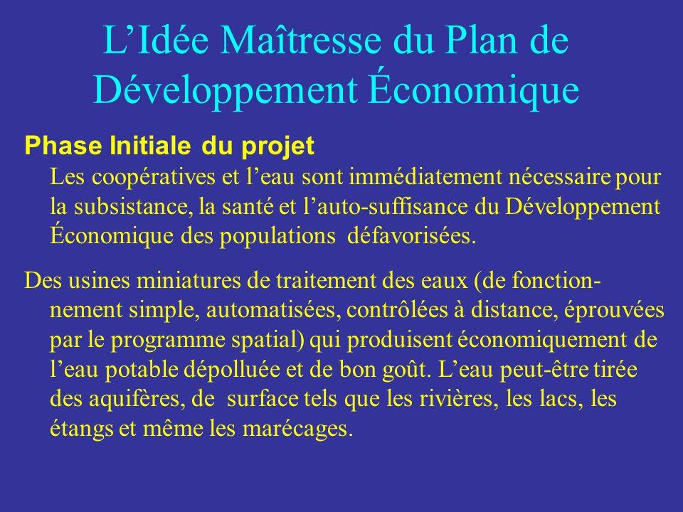 LIdée Maîtresse du Plan de Développement Économique Le rôle de l UNESCO et de la FONDATION est dorganiser, éduquer, former et assister les femmes et les hommes défavorisés dans la mise en oeuvre et le maintien de leurs micro-entreprises de type coopératif.