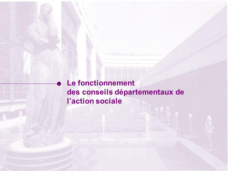 Le fonctionnement des conseils départementaux de laction sociale
