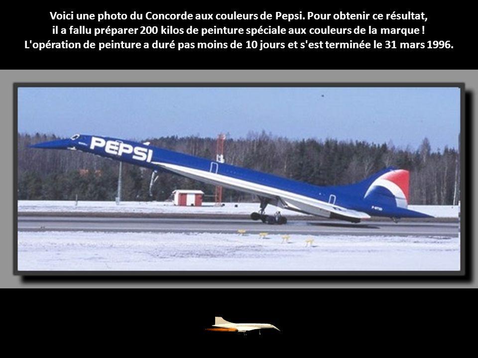 Voici une photo du Concorde aux couleurs de Pepsi.