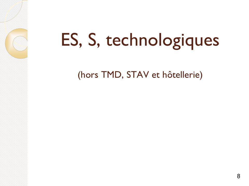 ES, S, technologiques (hors TMD, STAV et hôtellerie) 8