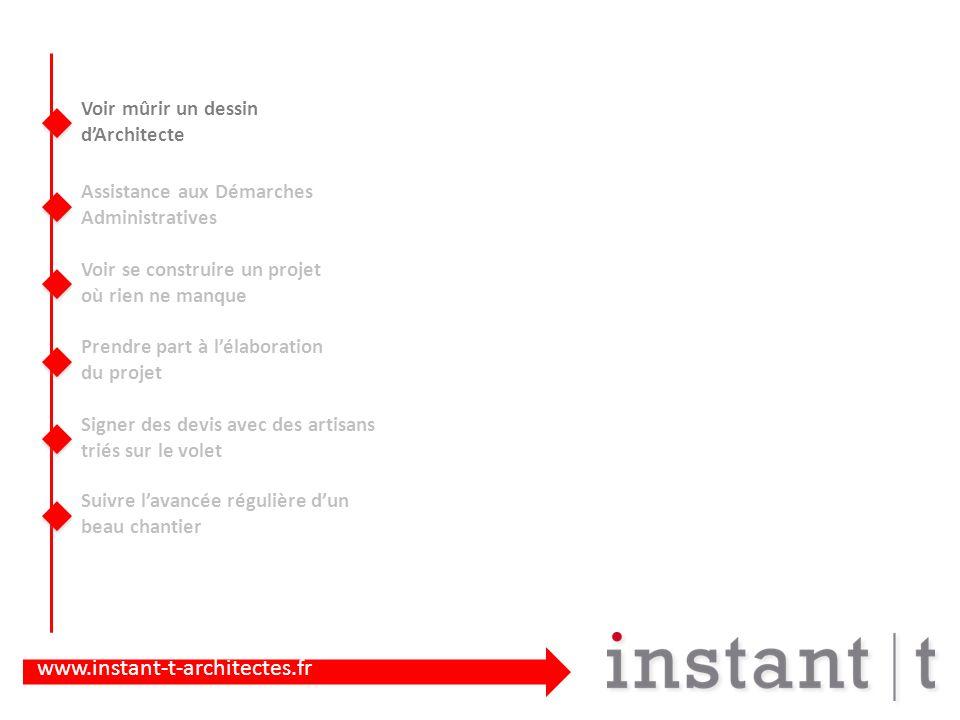www.instant-t-architectes.fr Sur notre site internet : Nos Bons petits Conseils dans la rubrique « Fiches Pratiques » -Comment lire un devis -Une consultation dArchitecte -Le Glossaire des mots de lArchitecte -...