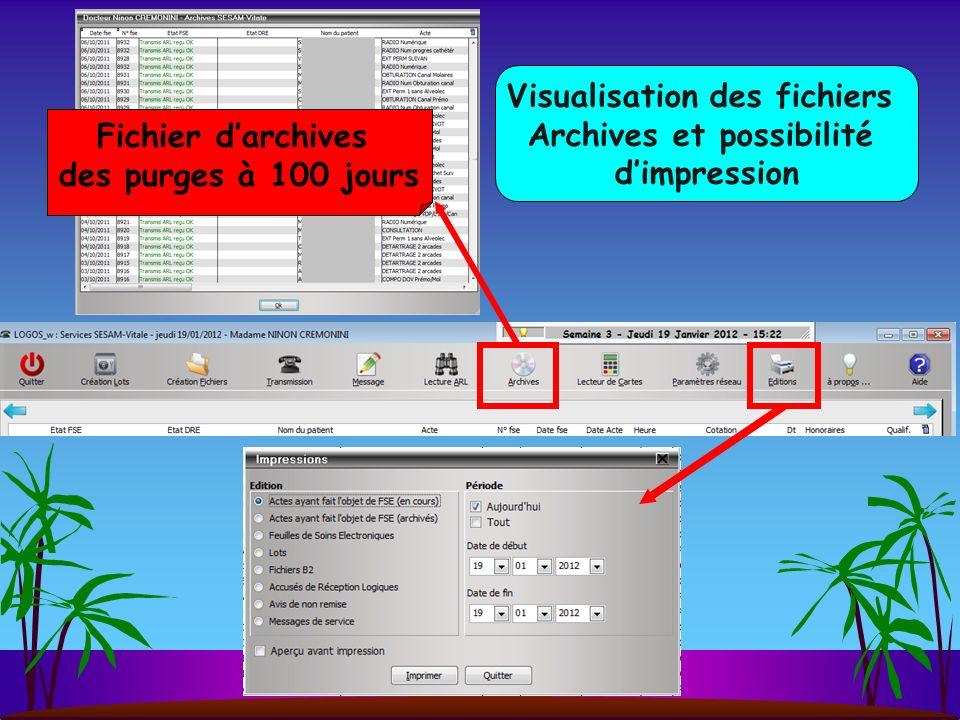 Détails des fichiers en actionnant lascenseur en bas sur la droite
