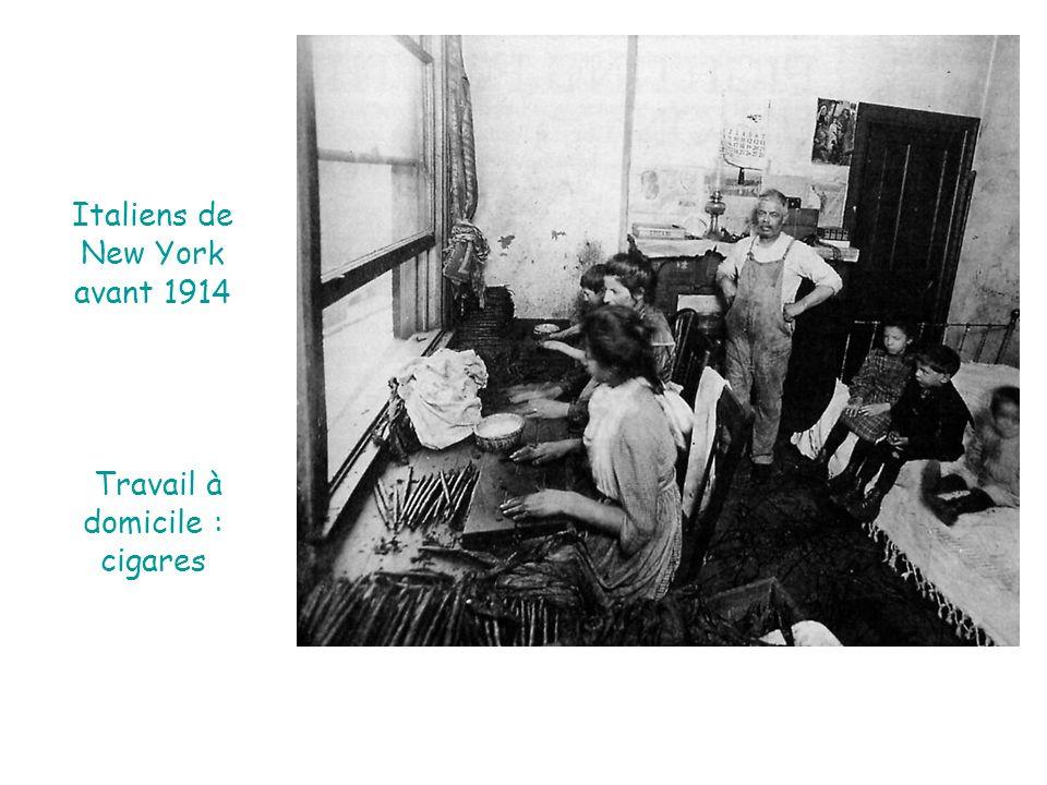 Italiens de New York avant 1914 Travail à domicile : cigares