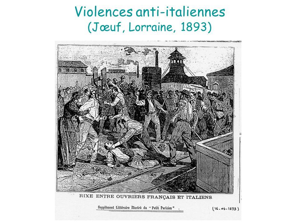 Violences anti-italiennes (Jœuf, Lorraine, 1893)