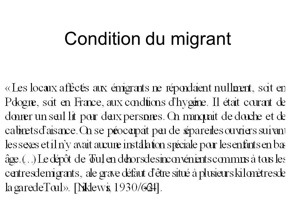 Condition du migrant