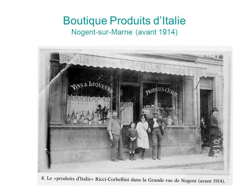 Boutique Produits dItalie Nogent-sur-Marne (avant 1914)
