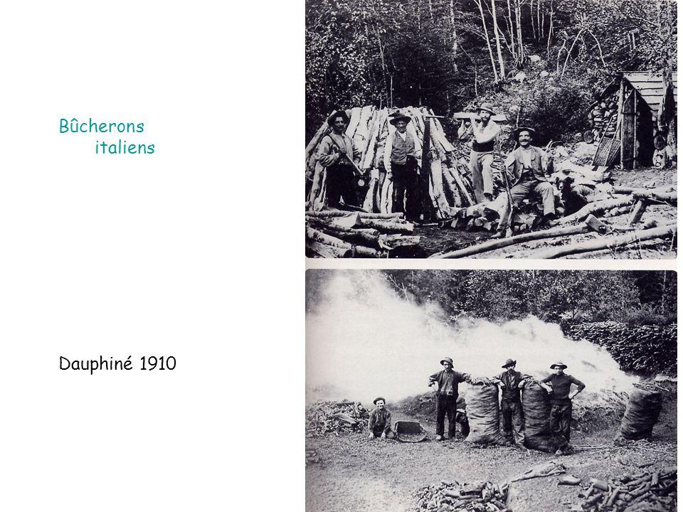 Bûcherons italiens Dauphiné 1910