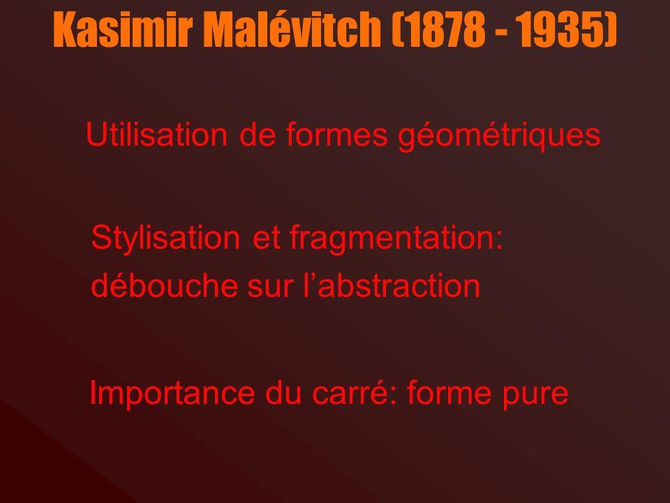 Kasimir Malévitch, Carré noir et carré rouge, 1915