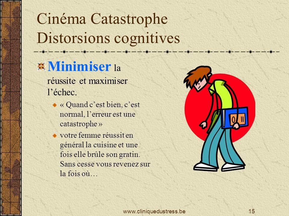 Cinéma Catastrophe Distorsions cognitives Minimiser la réussite et maximiser léchec.