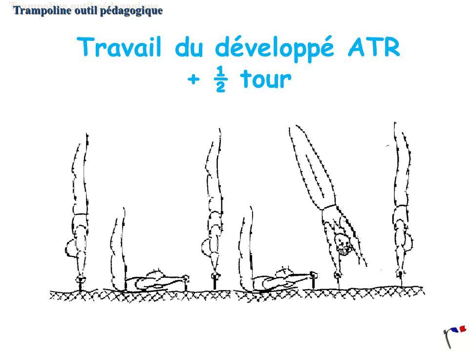 Travail du développé ATR + ½ tour Trampoline outil pédagogique