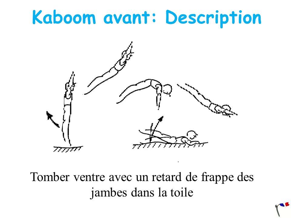 Kaboom avant: Description Tomber ventre avec un retard de frappe des jambes dans la toile